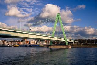 Sunny clouds over Severinsbrücke
