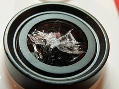 macro broken glass lens crashed ring sooc xiaomiyi