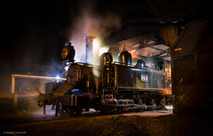 Night light (michaelgreenhill) Tags: night smoke au australia trains victoria steam pbr backlit belgrave puffingbilly