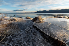 Thin Ice (pidalaphoto) Tags: winter newyork mountains ice sunrise river morninglight hudsonriver hudsonvalley hudsonhighlands zeiss15mm plumpointpark newwindsorny kowaweseuniqueareaatplumpoint