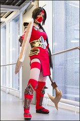 Crimson Akali - League of Legends (Mark van der Meer) Tags: game cosplay lol convention legends rts league akali animeconvention leagueoflegends tsunacon cosplayconvention conventies crimsonakali tsunacon2016