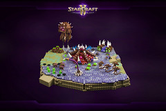 StarCraft II: Zerg expansion (cecilihf) Tags: lego overlord roach starcraft blizzard base creep sc2 hatchery moc drone extractor zerg hydralisk baneling spinecrawler