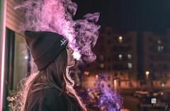 """""""Smoke In The City"""" (Simone D'andrea) Tags: city color girl model foto purple photos cigarette smoke models fotografia ragazza citt fumo sigaretta porpora"""