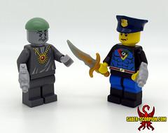 Captain Action & Dr. Evil (Saber-Scorpion) Tags: comics lego superhero minifig superheroes drevil moc doctorevil minifigures captainaction brickforge