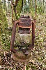 rusty oil lamp in the woods (bob the lomond) Tags: lamp scotland rusty abandonned oillamp rspb gartocharn bobthelomond rspblochlomond