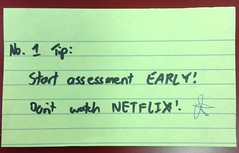 Start assessment early (thompsoe) Tags: payitforward uniadvice advicefromstudents