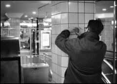 283 Ricoh 16 (rubbernglue) Tags: blackandwhite bw contrast underground metro lottery tiles 40mm winning ricoh500g stainer filmphotography rikenon ilfordmgiv triss trisslott compactfilmcamera humancuriosity filmexif bwfp