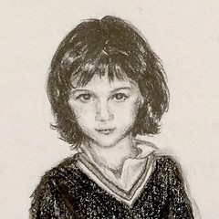 Helloo, it's me. A much younger me. 4-5 years old at most. (borianag) Tags: portrait face kids illustration pencil portraits sketch kid drawing sketches pencildrawing instagram ifttt