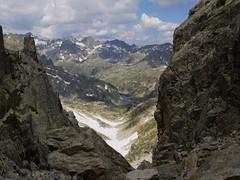 Widok z przełęczy Contraix w kierunku Montardo
