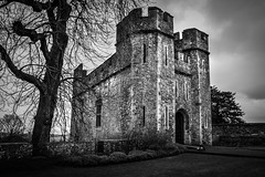 "Dunster Castle in Black and white • <a style=""font-size:0.8em;"" href=""http://www.flickr.com/photos/32236014@N07/25653406535/"" target=""_blank"">View on Flickr</a>"