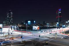 Incrocio via Melchiorre Gioa, viale della Liberazione (Obliot) Tags: blue lights italia cross traffic milano samsung it evento luci lombardia marzo 2016 gaeaulenti palazzolombardia boscoverticale obliot
