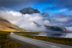 Route One (Darkelf Photography) Tags: road mountains clouds canon reflections landscape photography one iceland europe route filter maciek 2015 polariser hofn darkelf 24105mm vestrahorn stokksnes gornisiewicz 5diii