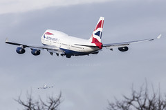 Two BA 747's taking off from Heathrow (Perfect Moment Images) Tags: road london canon is airport perfect williams heathrow garage images off southern 400 take l british adrian 100 ba usm moment airways esso runway jumbo lhr lump departing 747400 perimeter 6d baw pmi egll 27l gcivw