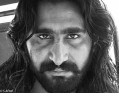 (s_afzal) Tags: pakistan portrait bw face canon beard blackwhite headshot portraiture pakistani lahore lahorefort mazar canon24105 portraitlens daatasaab