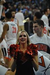DANCING FOR UVA (SneakinDeacon) Tags: basketball cheerleaders providence tournament ncaa uva wahoos friars cavaliers bigeast hoos pncarena