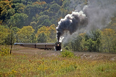 Photo Runby at Carman (craigsanders429) Tags: steamtrain steamtrains passengertrains steamlocomotives passengercars excursiontrain ohiocentralrailroad excursiontrains ohiocentral1293 ohiocentralsystem steamexcursions ohiocentralapexbranch