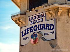 Laguna Beach Lifeguard Tower... (HLHullPhotography) Tags: signs upclose lagunabeach lifeguardtower mainbeachpark