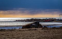April evening (Lena_CS) Tags: ocean sunset sea sky finland boats spring april coastline
