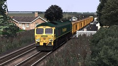 Wigan to Southport Line - Beating The Traffic (onelimatwenty) Tags: train rail simulator sim southport freight ballast freightliner class66 northernrail wiganwallgate trainsimulator railworks ts2015 ts2016 wigantosouthport