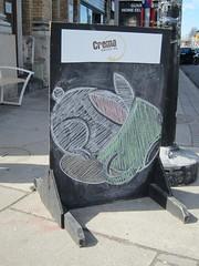 good to the last drop (roaddragon305) Tags: rabbit bunny coffee coffeeshop chalkboard crema thejunction
