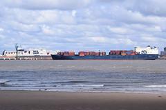 Atlantic Conveyor with Atlantic Star in the lock (Gareth Garbutt) Tags: acl rivermersey atlanticstar atlanticcontainerline atlanticconveyor