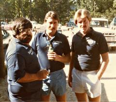 Hutley's. August 1983. Mike Westley, Eddie Muller, Tim Tansey (BruceLorenz) Tags: street new york ny st bar island pub long main tavern 1984 eighties 1980s 501 islip theeighties hutleys