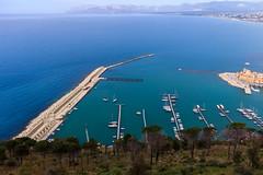 Small port (Davide Argano) Tags: blue sea italy colors contrast port landscape boats landscapes colours small vivid blues sicily