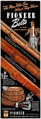 Pioneer Belts, 1942 ad (Tom Simpson) Tags: fashion vintage advertising belt ad advertisement 1940s mens 1942 mensfashion menswear vintagead leatherbelt 1940sfashion pioneerbelts