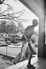 Ilford XP2 4-16 30 (LanceAdkinsPhotography) Tags: birthday street friends party portrait blackandwhite plants sun white black tree film contrast forest photo long exposure walk cincinnati group streetphotography down run grill xp2 flare ilfordxp2 ilford buiding ilfordxp2super400 super400