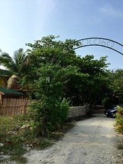 Cocolobo Roatan Honduras (KkleinRN) Tags: travel vacation garden entrance honduras arches resort palmtrees driveway gateway tropical roatan westend destinations cocolobo
