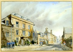 Abbey House by Winton Aldridge, 1983 (sherborneschoolarchives) Tags: artist watercolour 1983 schoolboys sherborneschoolarchives sherborneschooldorsetuk abbeyhousesherbornedorset rowlanddewintonaldridge