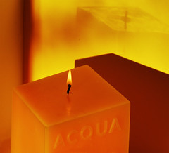 Candle (chrisk8800) Tags: light color colour lines composition square candle indoor flame