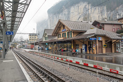 Lauterbrunnen Train Station (bobbynofigure) Tags: switzerland nikon lauterbrunnen 28300 d610