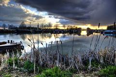 _MG_8382_3_4 (plw1053) Tags: bridge sunset reflection water marina boat canal skies hdr waterway calcutt plw1053 paullgwells