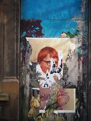 Rip-off (Feldore) Tags: street ireland irish poster ripped olympus belfast panasonic textures torn colourful northern flyers mchugh superimposed fragments em1 35100mm feldore