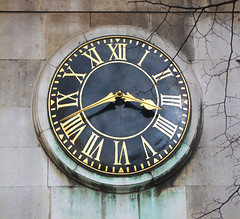 clock (Simon_K) Tags: city london church wall all hallows