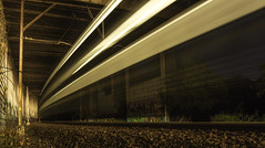 Out of the Dark (edwinemmerick) Tags: longexposure urban night train lighttrail traffictrail traintrail