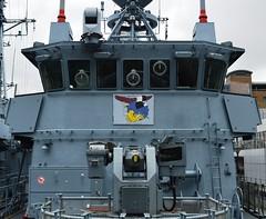 FGS Pegnitz M1090 M1098 (18) @ WID 16-04-16 (AJBC_1) Tags: uk england london boat ship unitedkingdom military navy vessel docklands canarywharf nato warship minesweeper eastlondon mcv nikond3200 27mm germannavy navalvessel westindiadock deutschemarine minehunter minecountermeasuresvessel m1090 3minensuchgeschwader mlg27 ensdorfclassminesweeper dlrblog ajc bundeswehrnavy lightnavalgunsystem rheinmetalldetec fgssiegburg fgspegnitz 3rdgermanminesweepingsquadron