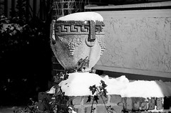 78110006.jpg (Shutterbatte Photography) Tags: blackandwhite snow brick film urn analog 35mm canon concrete rebel trix gii
