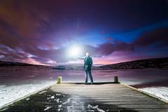 First light (Inglfur B) Tags: snow man ice standing sunrise pier daylight iceland purple strobe fotodioxpro samyang14mmf28 eftonex sonya7s