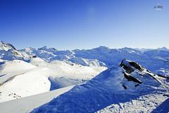 Skiing at Les Menuires (A. Wee) Tags: panorama ski france alps view lesmenuires  troisvalles  les3valles