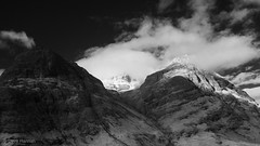 In the Clouds - Stob Coire nan Lochan (Bidean nam Bian) (David Hannah) Tags: light mountain mono scotland pass glen nan coe nam lochan bidean bian stob coire