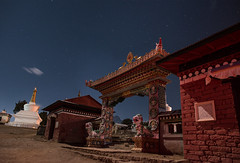 Tengboche (Andrei Doubrovski) Tags: nepal night trekking stars monastery starry choling ebc thyangboche gompa tyangboche dawa tengboche