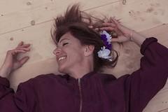 """J127/365  """"Reine mre"""" (manon.ternes) Tags: pink flowers portrait paris girl smile rose fleurs project photography student photographie photos 365 maman reine fille sourire personnes challenge personne projet mre parisienne tudiante 365days 365project projet365"""