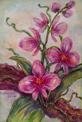 Watercolor Orchids (entwoman) Tags: orchid watercolor painting watercolours