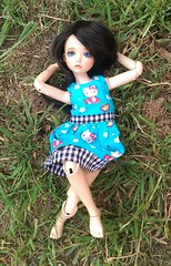 Watching the Clouds (bluepita) Tags: hello b black face up ball asian real kid doll natural skin kitty special tiny bjd 16 rs lonnie abjd srs lapis ih ip jointed leeke yosd iplehouse safrin safrindoll lr093