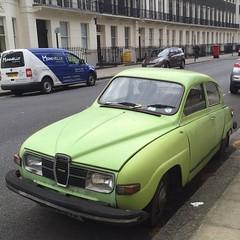 (uk_senator) Tags: green lime saab 1976 96 v4