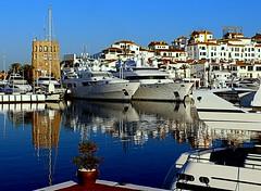 Puerto Bans (camus agp) Tags: espaa barcos canoneos marbella reflejos puertos 700d