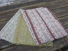 crackle weave tea towels (sandySTC) Tags: three tea cotton towels ashford weaving weave loom handwoven rigid heddle cottolin threeheddles