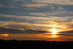 Sun Dog (Scotty Slates) Tags: camera uk sunset summer sky cloud dog sun sunshine set skyline clouds digital sunrise canon evening spring cloudy britain derbyshire great dslr sundog helper 650d